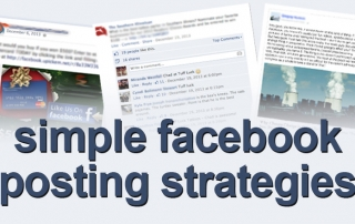 simple facebook posting strategies
