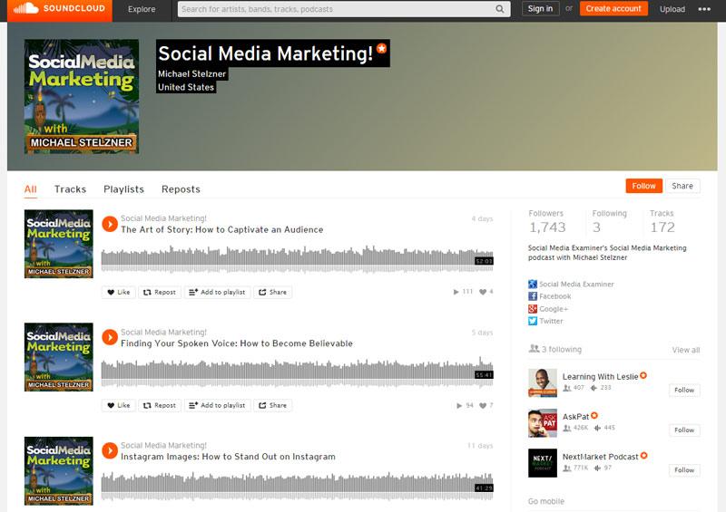 audio post to soundcloud