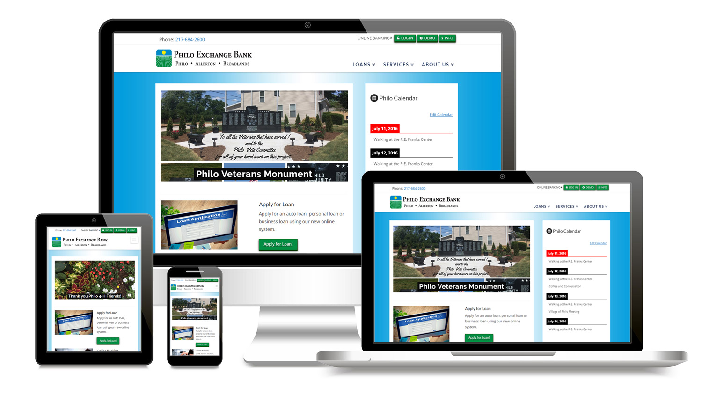 philo bank mobile website