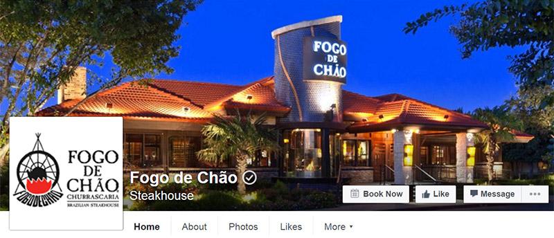 facebook page restaurant