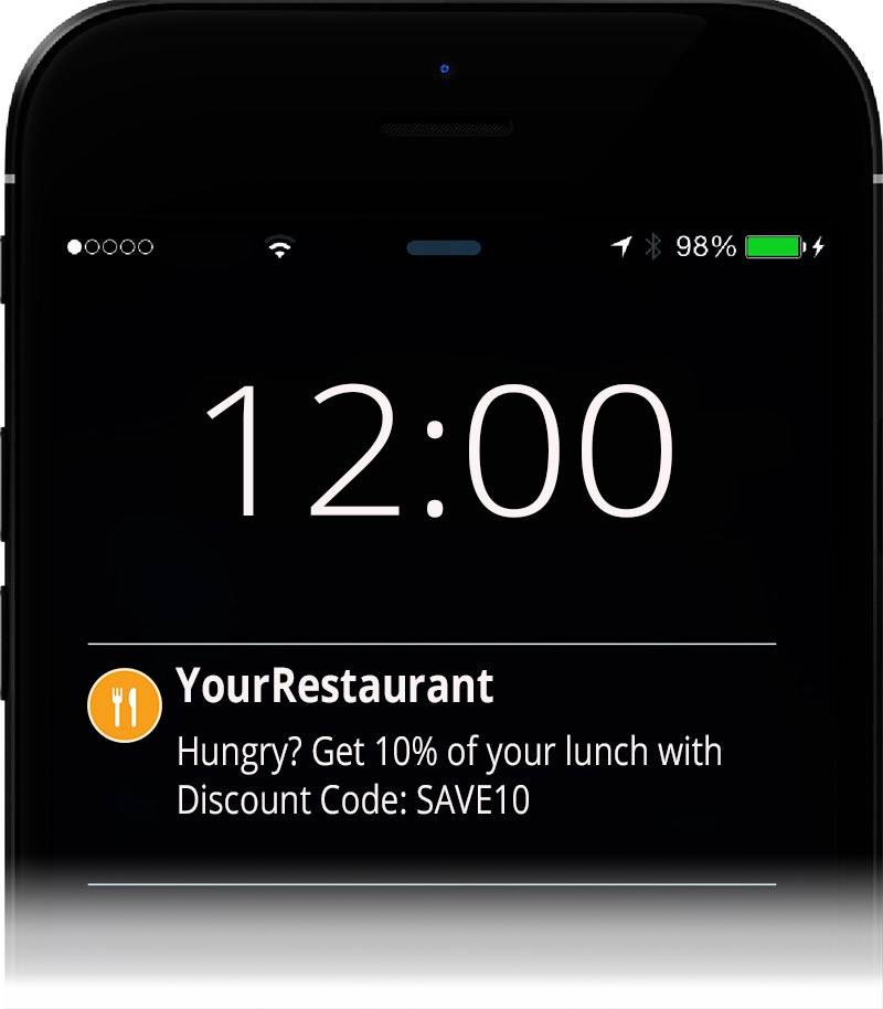 restaurant push notifications for mobile