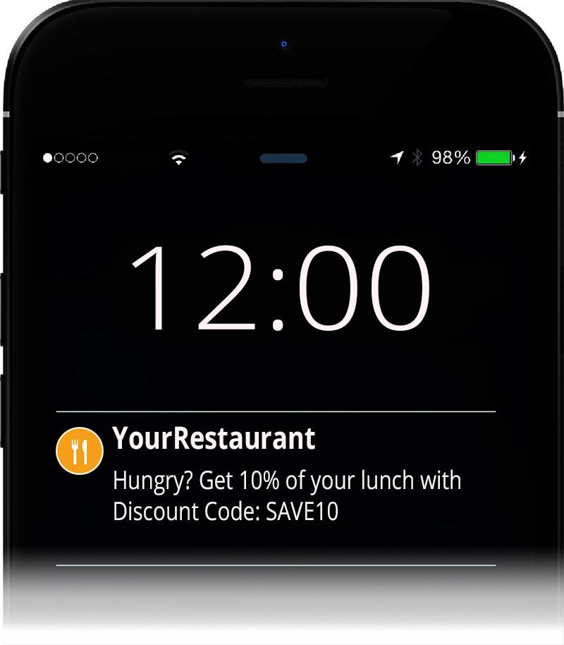 restaurant push notifications for mobile