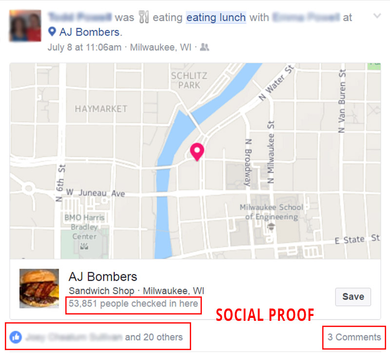 restaurant social proof
