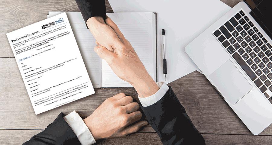 model customer survey form marketing
