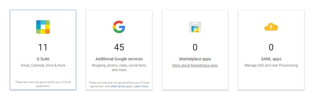 g suite select apps