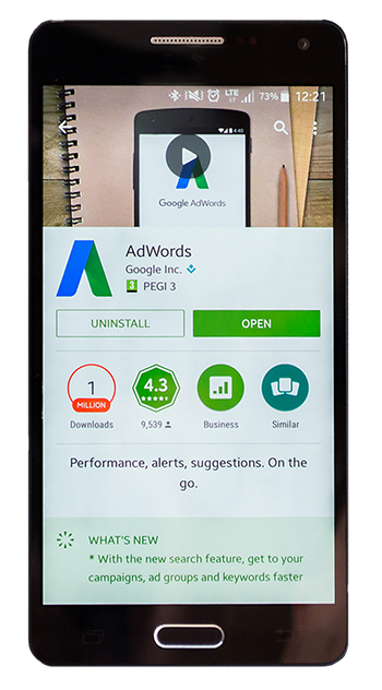 google adwords mobile